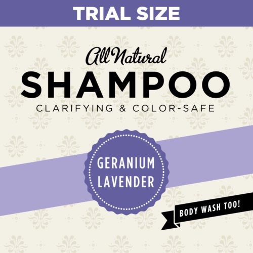 HCL Organic Sulfate Free Geranium Lavender Shampoo Trial Size