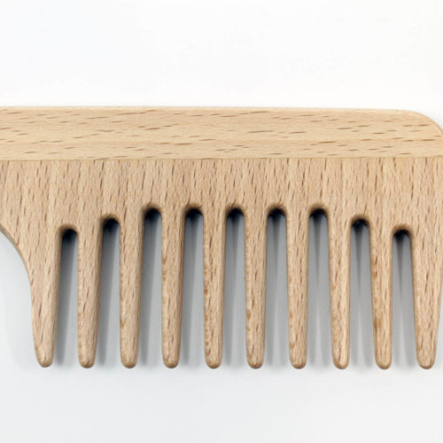 wide tooth comb, wooden comb